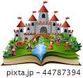 ブック 書籍 本のイラスト 44787394