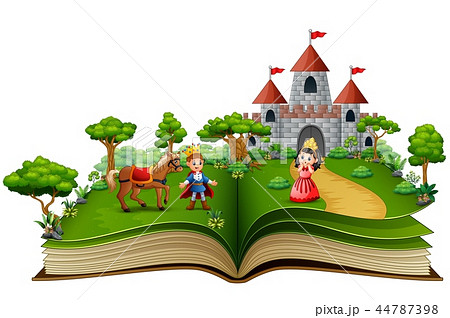 Story book of princes and princesses in the royal  44787398