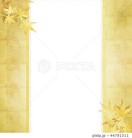 和-和柄-和風-背景-金箔-紅葉-のし紙 44791311