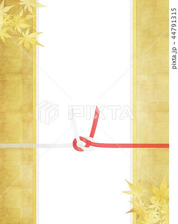 和-和柄-和風-背景-金箔-紅葉-のし紙-水引 44791315