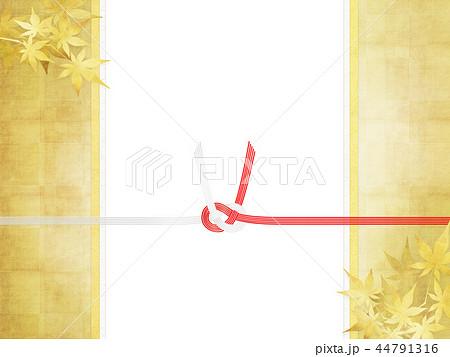 和-和柄-和風-背景-金箔-紅葉-のし紙-水引 44791316
