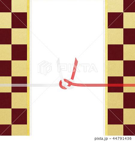 和紙-和-和風-和柄-市松模様-紅白-のし紙-水引 44791436