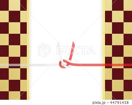 和紙-和-和風-和柄-市松模様-紅白-のし紙-水引 44791438