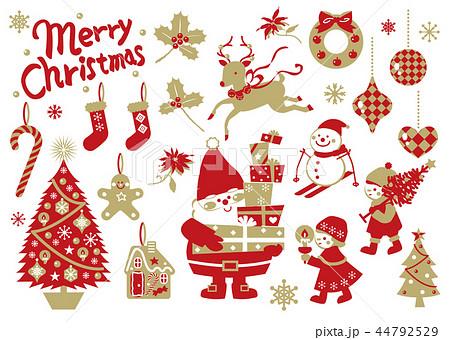 クリスマス イラスト おしゃれ可愛い詰め合わせ ベクター有りのイラスト素材