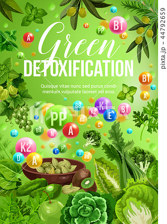 Color diet green day, vegetables and fruits 44792659