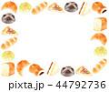 フレーム パン 背景のイラスト 44792736