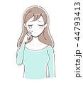 女性 若い 涙のイラスト 44793413