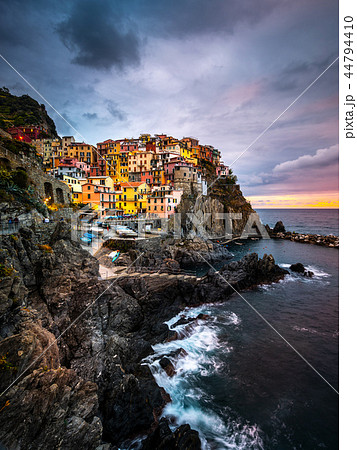 Manarola Village, Cinque Terre Coast of Italy. Manarola a beautiful small town in the province of La 44794410