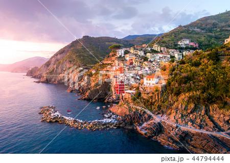 Riomaggiore of Cinque Terre, Italy - Traditional fishing village in La Spezia, situate in coastline 44794444