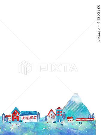 町並 街並 イラスト オシャレ ポストカード 44805536