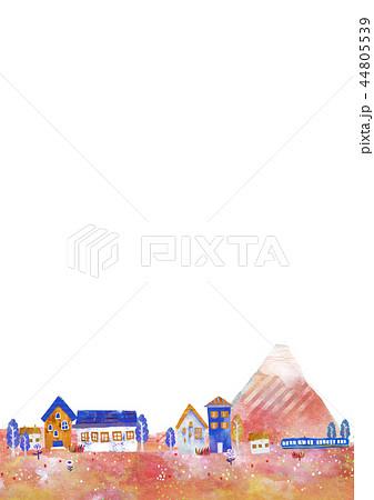 町並 街並 イラスト オシャレ DM 44805539