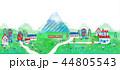 町並 街並 イラスト 風景 風景画 44805543