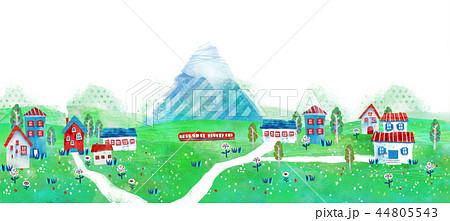 町並 街並 イラスト 風景 風景画のイラスト素材 44805543 Pixta