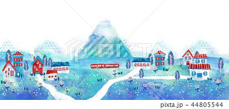 町並 街並 イラスト 風景 かわいい 44805544