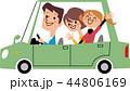 家族 ドライブ 車のイラスト 44806169