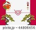 鶴 亀 松のイラスト 44806456