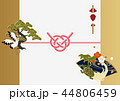 鶴 亀 松のイラスト 44806459
