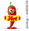 胡椒 キャラクター 文字のイラスト 44808239