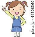 子供 女の子 ベクターのイラスト 44808360