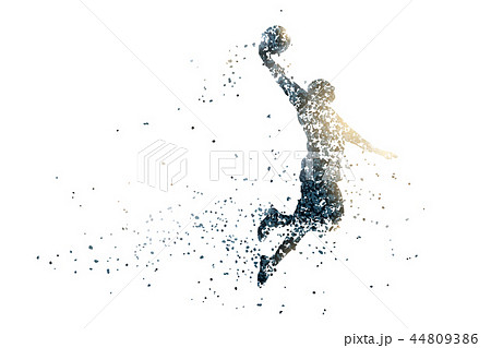 basketball abstract silhouette 1 bitmap ver. 44809386
