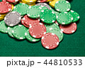 Casino chips on green table 44810533