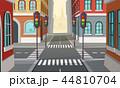 都市 ロード 横断歩道のイラスト 44810704