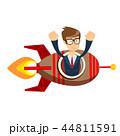 ビジネスマン 実業家 ロケットのイラスト 44811591