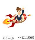 ビジネスマン 実業家 ロケットのイラスト 44811595
