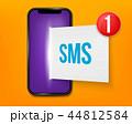 SMS メッセージ スマートフォンのイラスト 44812584