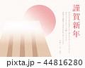 年賀状 亥 いの富士 横 44816280