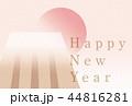 年賀状 亥 いの富士 横 44816281