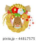 亥年 正月飾り ベクターのイラスト 44817575