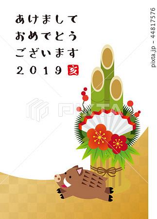 2019年賀状・門松 44817576