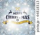 クリスマス キラキラ 背景のイラスト 44818313