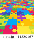 カラフル 色とりどり ジグソーパズルのイラスト 44820167