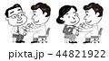 予防接種 中年男性 中年女性 モノクロ イラスト 44821922