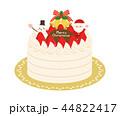 クリスマスケーキ クリスマス ショートケーキのイラスト 44822417