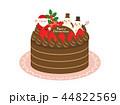 クリスマスケーキ クリスマス サンタクロースのイラスト 44822569