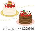 クリスマスケーキ クリスマス サンタクロースのイラスト 44822649