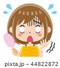 そばかす 女性 シミのイラスト 44822872