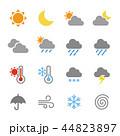 天気 アイコン ベクターのイラスト 44823897