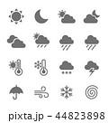 天気 アイコン ベクターのイラスト 44823898