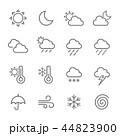 天気 アイコン ベクターのイラスト 44823900
