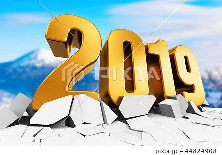New Year 2019 holiday celebration concept 44824908