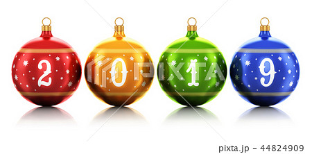 New Year 2019 holiday celebration concept 44824909