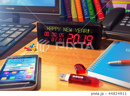New Year 2019 holiday celebration concept 44824911