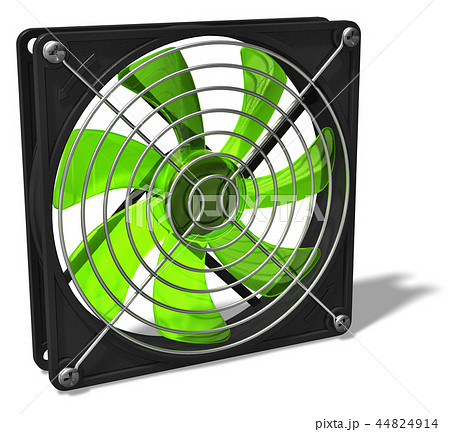 Computer chassis and CPU cooler fan 44824914