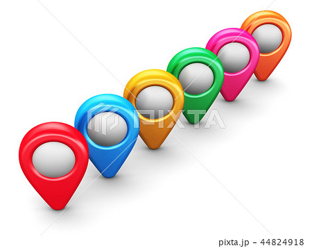 Group of color map location markers 44824918