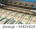 Printing 10 US dollar USD money banknotes 44824919