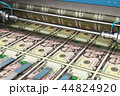 Printing 5 US dollar USD money banknotes 44824920